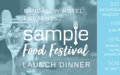 Sample 2019 Launch Dinner Announced…